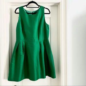 Pink Tartan Emerald Green Sleeveless Dress size 12